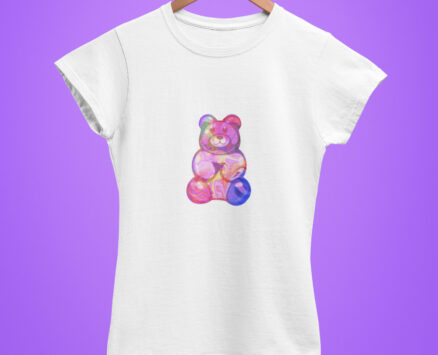 T-shirt Purple Bear