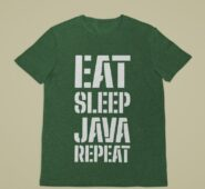 T-shirt Eat Sleep Java Repeat